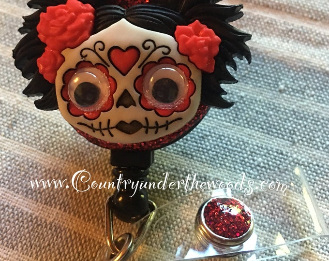 Zombie Badge Reel, Halloween Badge Reel, Nurse Badge Reel, Retractable Badge Holder, Hocus Pocus Badge Reel, Badge Reel Nurse,  Badge Reel