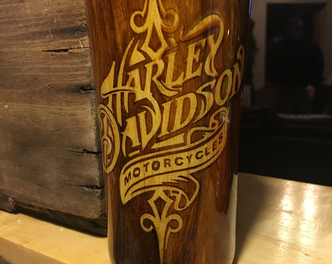 Wood Grain,Harley davidson,Power strok 6.0,custom,Personalize,Tumbler,Exopy,20oz,Different sizes,Gift,Unique