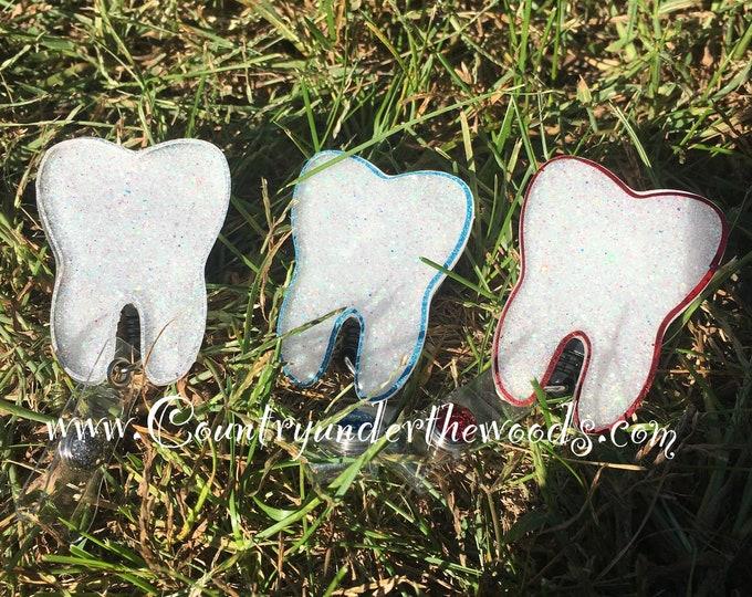 Tooth Badge reel, orthodontist badge reel, dentist, retractable badge reel, medical badge reel, Dental assistant, dental badge reel