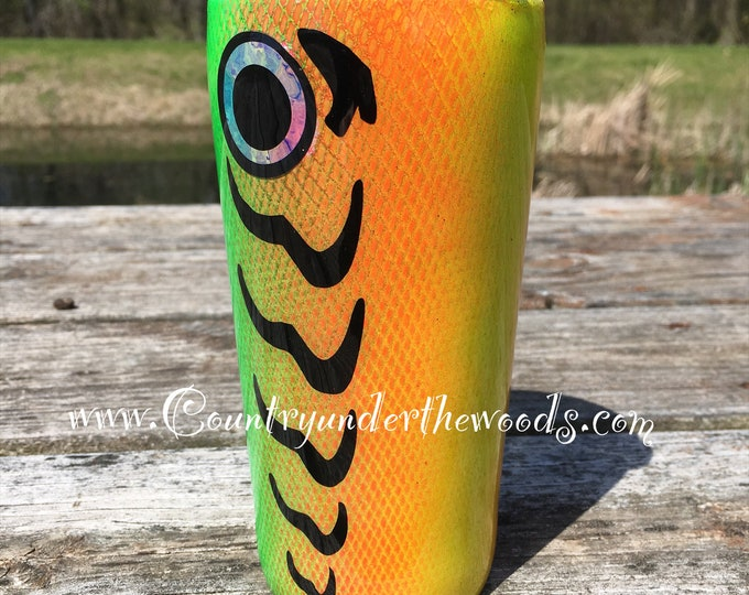 Fish Lure Tumbler, Fishing cup, Made to order, custom, personalize, Different colors, Different sizes