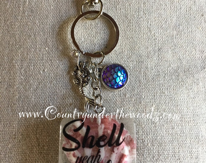 Purse Bling, Keychains, funny sayings, ready to go, charms, sea shells, florida sand, florida shells,