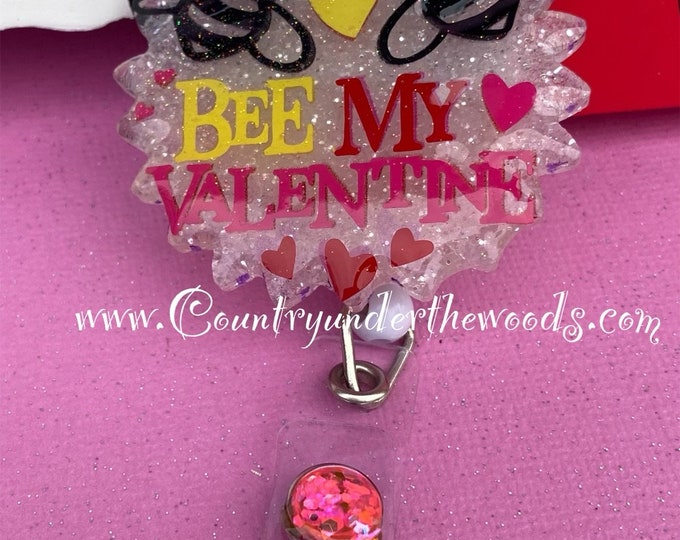 Valentine Theme Badge Reel, Gnome, Badge Reel, Retractable ID badge reel, Unique, alligator Clip, Personalize, free shipping, Zindee