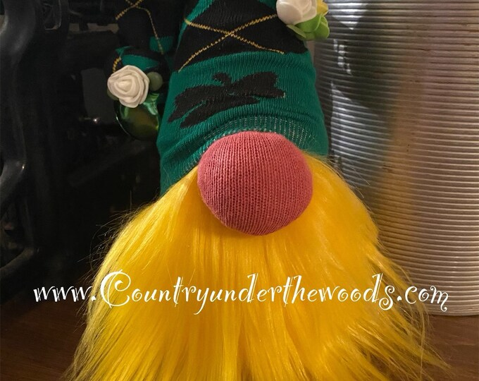 St. Patrick's Day Gnomes, Sock  Gnome, St. Patrick's Day Decor, Holiday Decor, Mantle Decor, Unique Gift, Handmade, Farmhouse St. Patrick's