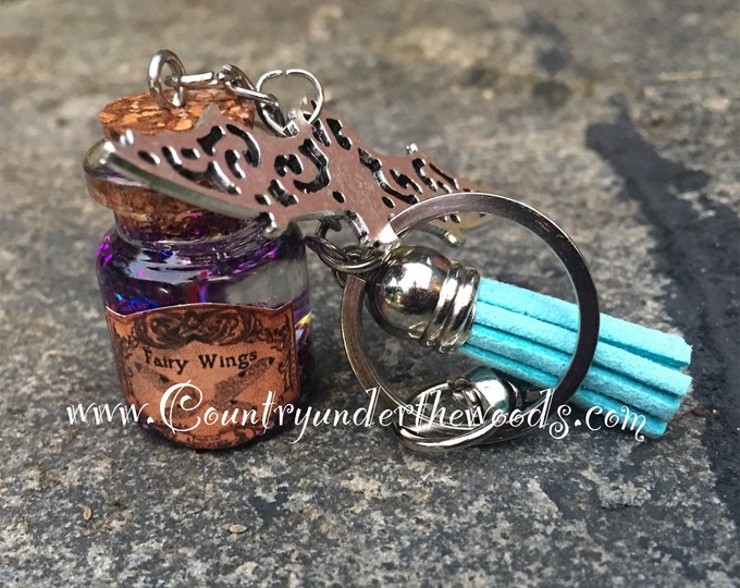 Halloween Theme Keychains, keychain, Halloween Bling, Glitter, Handmade