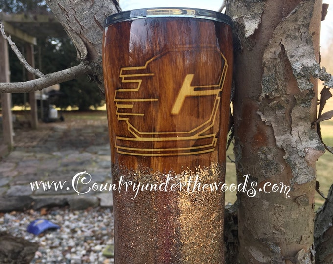 Central Michigan University Tumbler, Wood Grain, Glitter, Made to Order, Unique, Personalize, Custom, 7 different Sizes to choose from