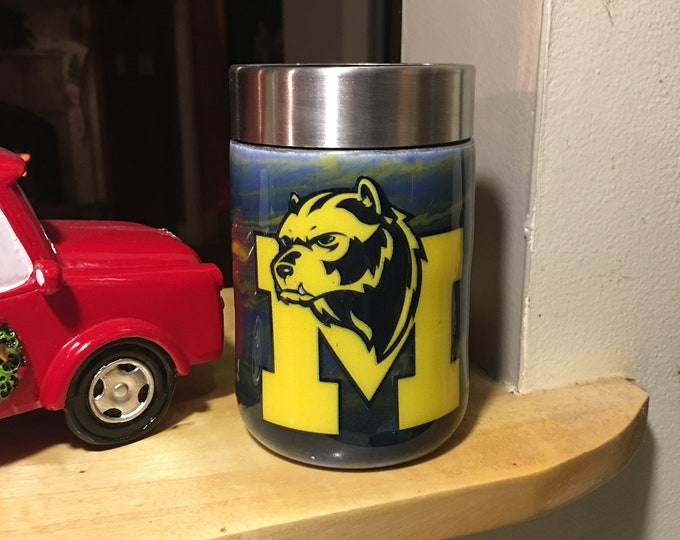 U of M, University of Michigan, Tumbler,Unique,Custom,personalized,Great Gift, Made to order, different sizes to pick from