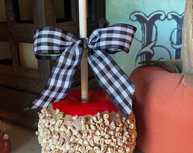 Fake Carmel Apples on a Stick, Handmade, Home Décor, Kitchen Décor, Country Décor, Free Shipping