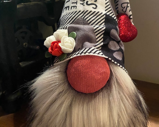 Dog Lover Gnomes, Sock  Gnome, Farm Décor,  Mantle Décor, Unique Gift, Handmade, Farmhouse Décor, Gnome, Dog Lovers, Dog Paw
