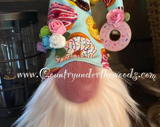 Donut Gnomes, Sock  Gnome, Mantle Décor, Unique Gift, Handmade, Farmhouse Décor, Gnome, Americana Décor, American Theme
