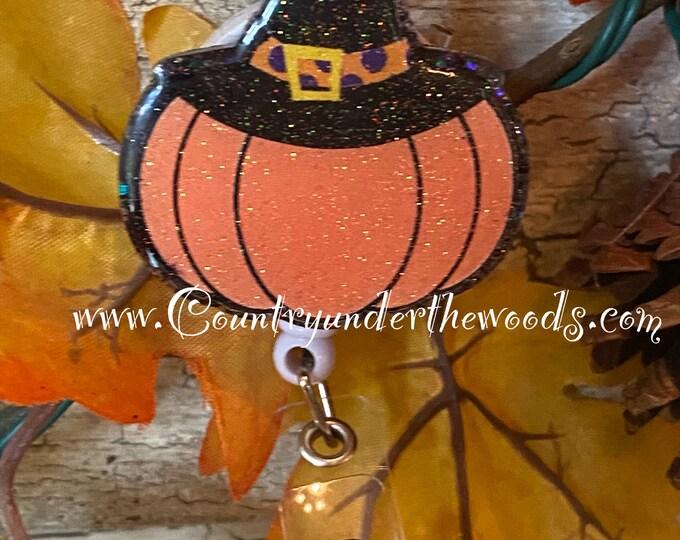Halloween Badge reel, ID Badge reel, Unique Badge reel, Medical Badge reel, Handmade, Great Gift, Fall Badge Reel, Halloween, Bones, Mummy