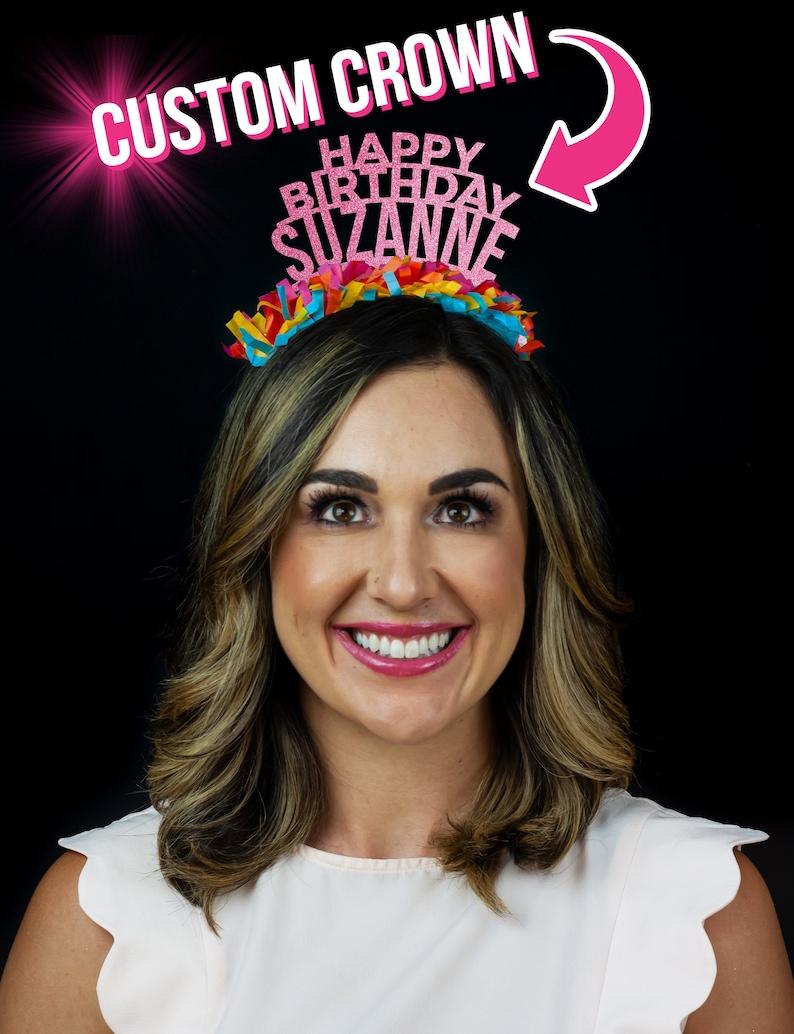 Personalized Party Crown  Custom Birthday Tiara  Custom image 0