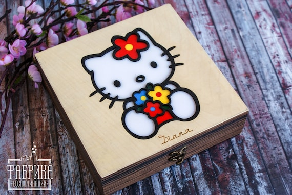 100 Personalized Casket For Girls Hello Kitty Etsy