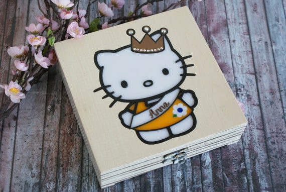 100 Personalized Casket Hello Kitty Princess Etsy