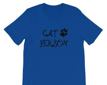 Cat Person Shirt Cute Paw Print