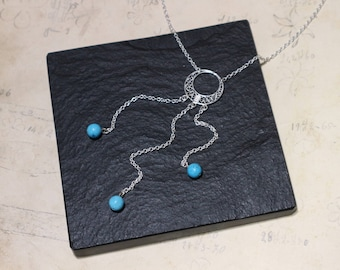 "Hand-knitted silver filigree Choker ""Khaleesi"" with natural hard stones"