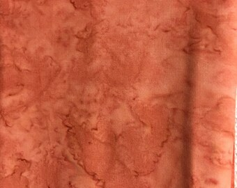 Fabric- Orange Batik  3/4 yard
