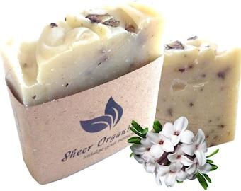 Sheer Organix Luxury Rejuvenative Handmade Herbal Soap, 3.52 oz. / 100g, Daphne