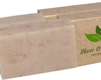 Certified Organic Sheer Organix Rejuvenative Herbal Soap Handmade in the USA, 4 oz. / 113g, Shea and Honey (2 Pack)