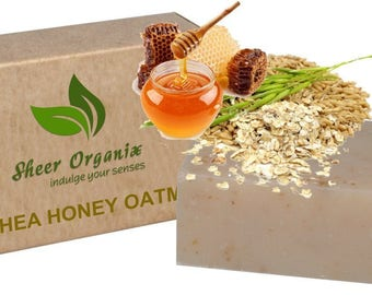 Certified Organic Sheer Organix Rejuvenative Herbal Soap Handmade in the USA, 4 oz. / 113g, Shea and Honey
