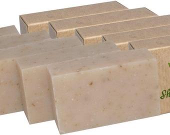 Certified Organic Sheer Organix Rejuvenative Herbal Soap Handmade in the USA, 4 oz. / 113g, Shea and Honey (5 Pack)