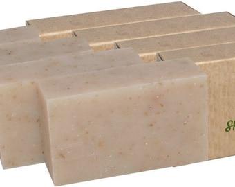 Certified Organic Sheer Organix Rejuvenative Herbal Soap Handmade in the USA, 4 oz. / 113g, Shea and Honey (4 Pack)