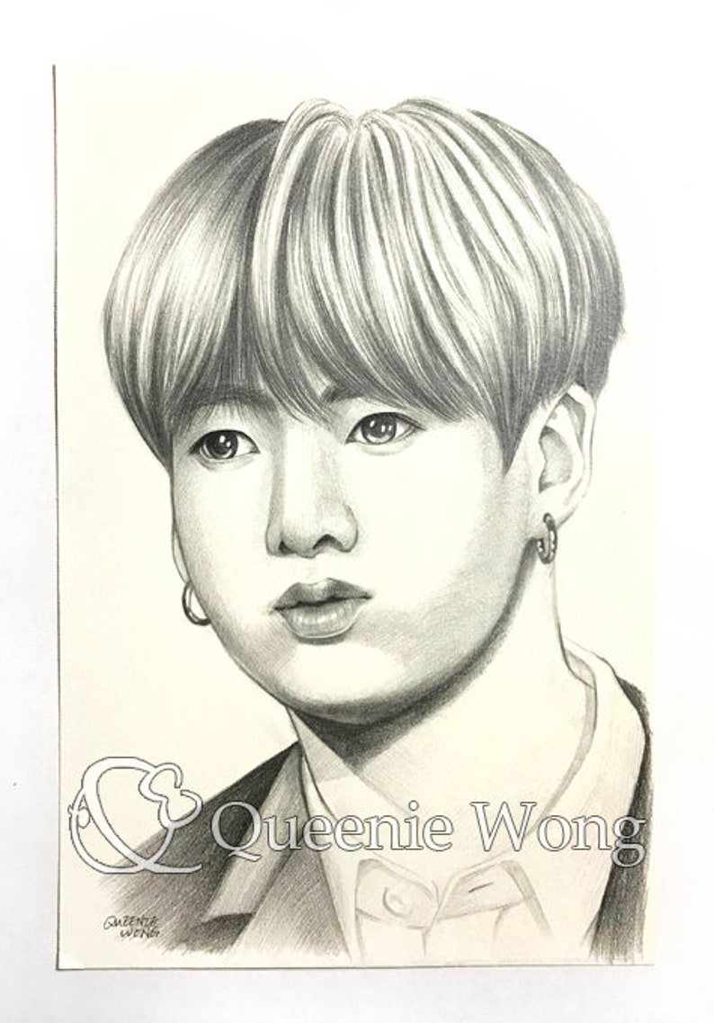 Jungkook And Who Pencils Drawings In 2019 T