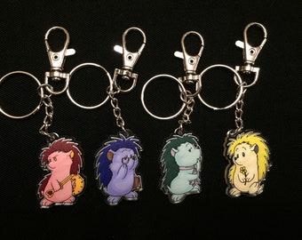 Hedgie Acrylic Charm Keychains