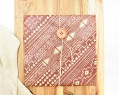 Beeswax Sandwich Wrap Aztec Pattern - Reusable Lunch Storage Eco Friendly Gift Zero Waste Kitchen Sustainable Living