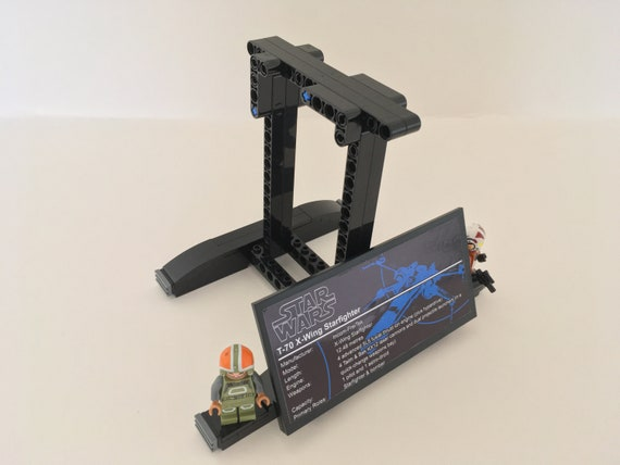 Star Wars Lego Display Stand Poes X Wing Fighter Etsy