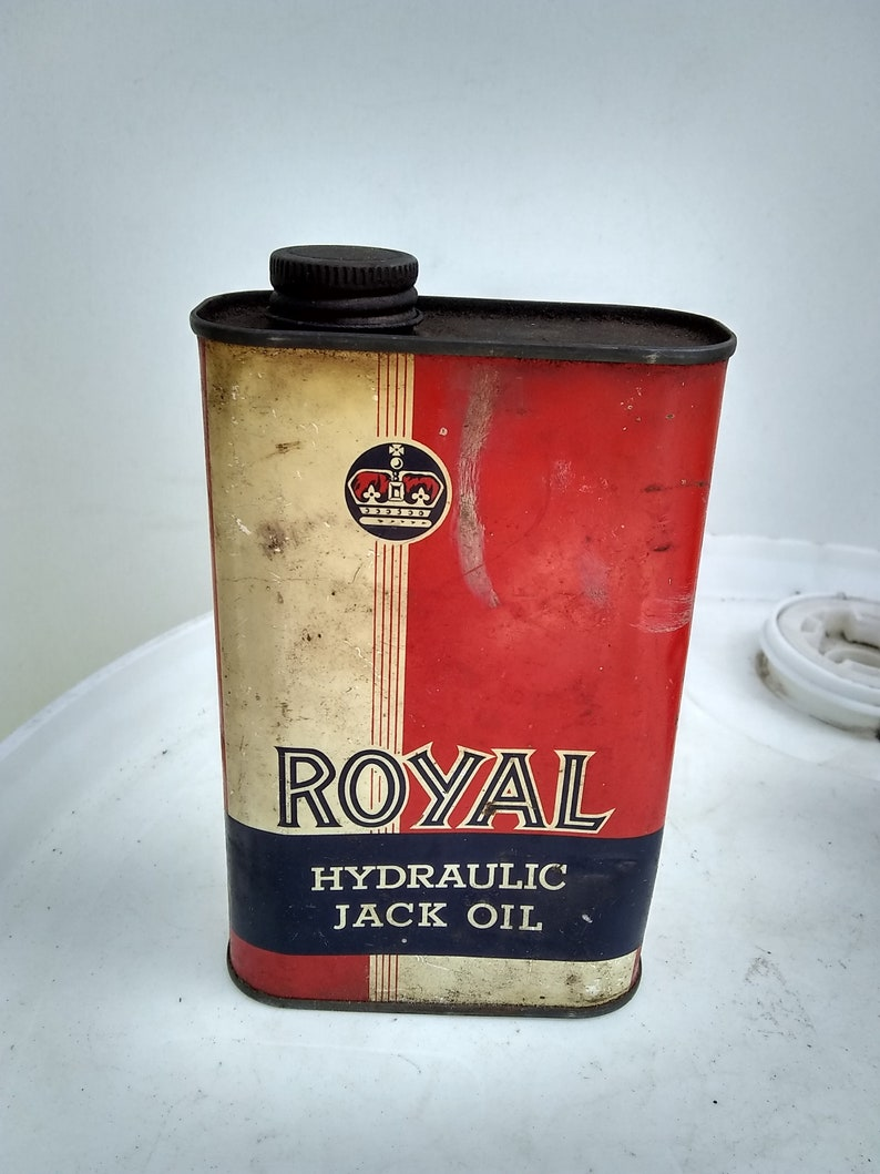 Royal Jack Oil Tin can Auto motive vintage cars and Hot Rods auto car oil  cans vintage tin can metal