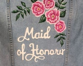 Maid of Honour Hand Painted Jacket