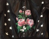 Child Girls Flower and Star Hand Painted Jacket