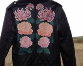 Hand Painted Jacket with Chrysanthemums and Roses
