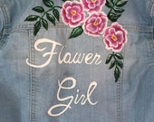 Flower Girl Hand Painted Floral Jacket