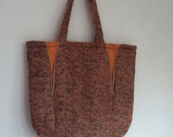 Shoulder bag, Shopper, handmade from felted wool.