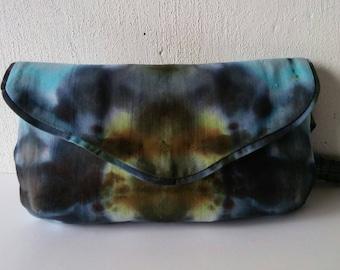 Handbag, storage bag made of hand-painted cotton.