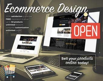 Custom Ecommerce Website Design, Wordpress Website Design, Web Design, Ecommerce Web Design, Online Shop Design, Online Store, Ecommerce