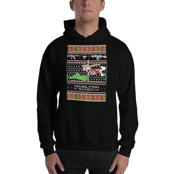Demolition Ranch Christmas Hoodie Sweatshirt Funny Ugly Etsy