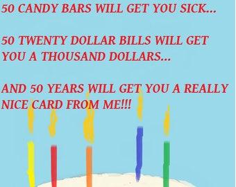 50th Birthday E Card