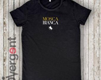 "T-shirt ""Mosca Bianca"" WHITE FLIGHT! free time wear"