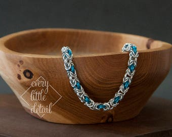 Colored Byzantine Chainmaille Bracelet