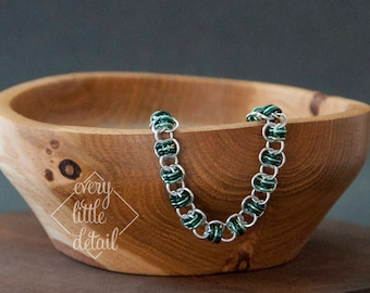 Colored Barrel Weave Chainmaille Bracelet
