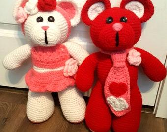 Crochet bears - homemade - hand crafted crochet bears