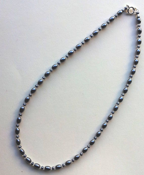 4mm Hematite Necklace VARIOUS Lengths 4 mm Haematite Beads Grey Necklace