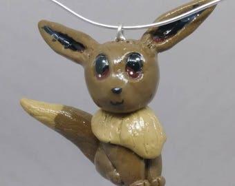 Eevee Pokemon Charm Necklace