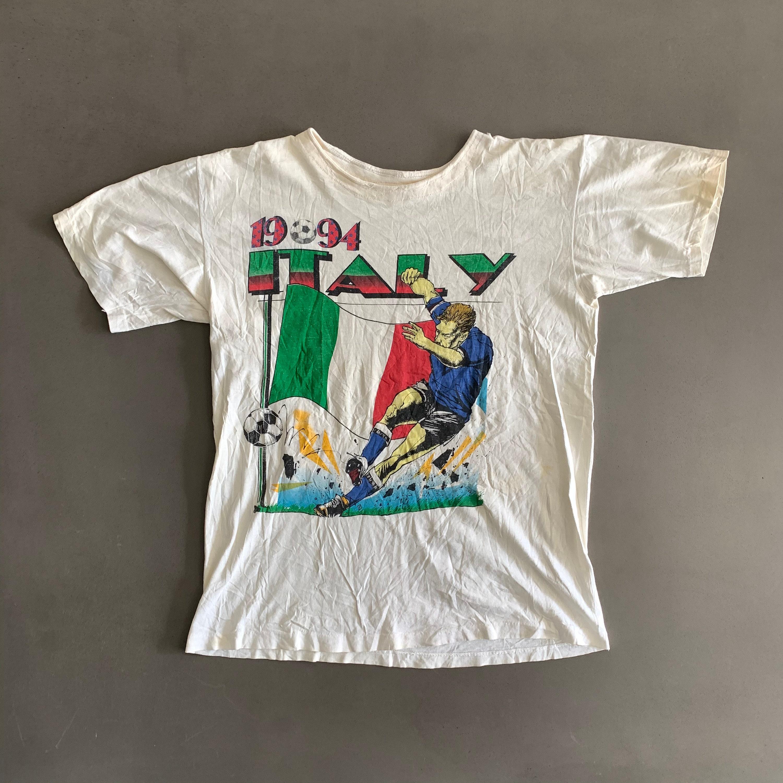 Vintage 1994 Italy Soccer T-shirt Size Large Unisex Tshirt