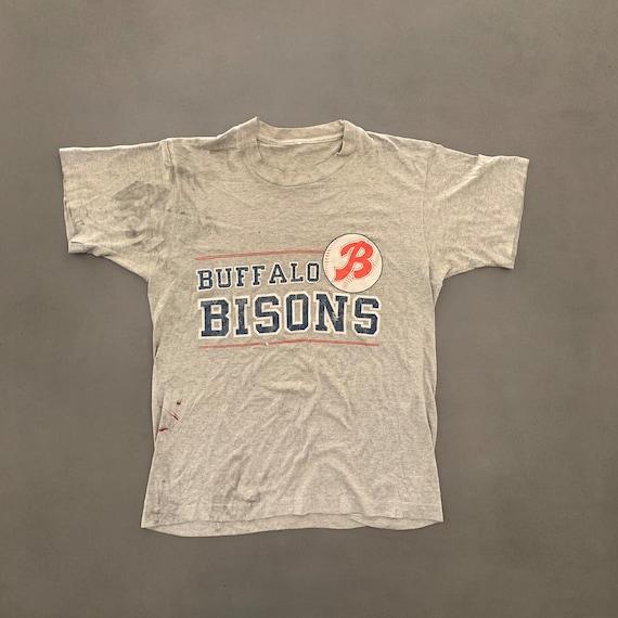 Vintage Distressed Buffalo Bisons T-shirt size med