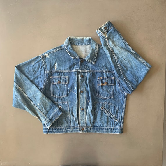 Vintage Distressed Early 80s Gauchos Denim Jacket