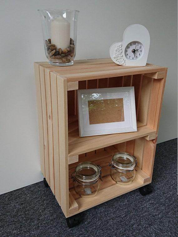 Large Wooden Apple Crate Vintage Style Handmade Display Unit Brown 0