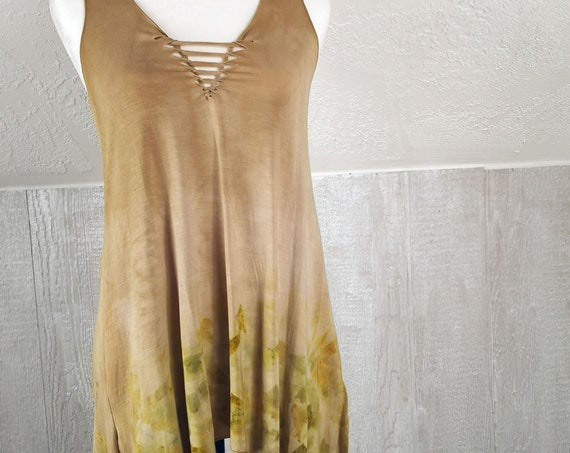 Eco Dyed Pixie Tunic | Quebracho & Onion Skins | Soy Blend Material | Hand Dyed with Botanicals | Eco printed | One Size